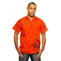 County Jail Hemd (orange) - Gefängnis Hemd von PLAYAZ