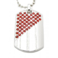 "PLAYAZ Dog Tag ""Red Blood"" Kristall mit Kette"