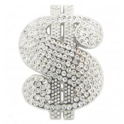 """PLAYAZ Gürtelschnalle """"Bling Dollar"""" mit Swarovski Kristallen"""