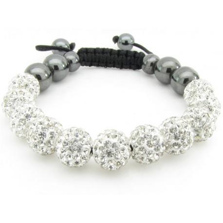 """Shamballa Armband """"Fully Bling"""" von PLAYAZ mit echten Kristallen besetzt"""