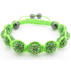 """Shamballa Armband """"Lime Green"""" von PLAYAZ mit echten Kristallen besetzt"""