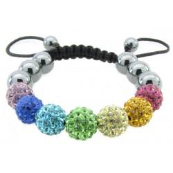 """Shamballa Armband """"Baby Rainbow"""" von PLAYAZ mit echten Kristallen besetzt"""