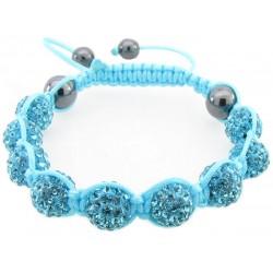 """Shamballa Armband """"Aqua"""" von PLAYAZ mit echten Kristallen besetzt"""