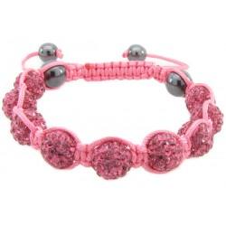 """Shamballa Armband """"Pink"""" von PLAYAZ mit echten Kristallen besetzt"""
