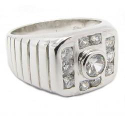 """925 Silber Ring """"Revolver Bling"""" Zirkonia Rhodiniert"""