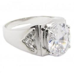 "925 Silber Ring ""King"" Zirkonia Rhodiniert"