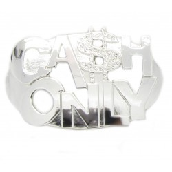 "PLAYAZ Gürtelschnalle ""CASH ONLY Bling"" Dollar mit Swarovski Kristallen (limited Edition)"