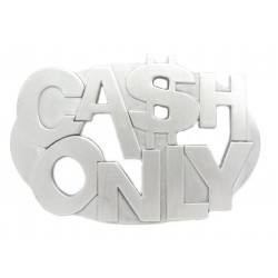 "PLAYAZ Gürtelschnalle ""CASH ONLY""  (limited Edition)"