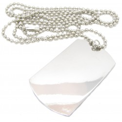 "PLAYAZ Dog Tag ""Genuine Plain"" Kristall mit Kette"