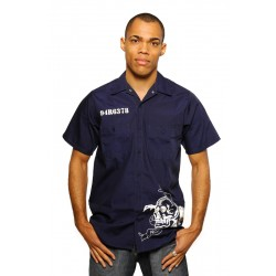 State Prison Hemd (dunkel blau) - Gefängnis Hemd von PLAYAZ