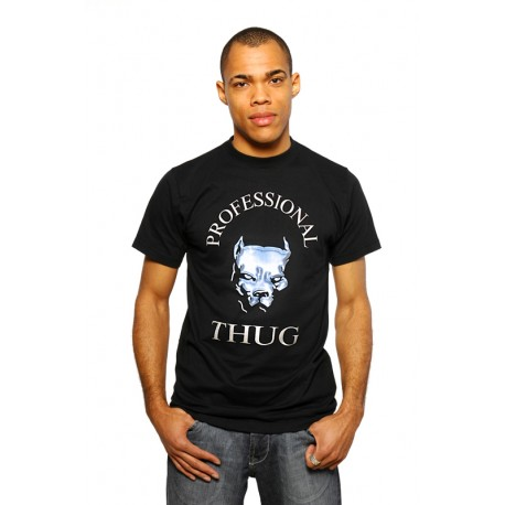"PROFESSIONAL THUG ""Pitbull"" Gangster Print T-Shirt von PLAYAZ (limited Edition)"