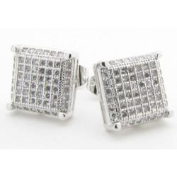 "Micro Pave Ohrstecker ""60 crystals"" 60 Kristalle / Zirkonia  Mega Bling viereck (2 Stück)"