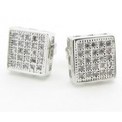 "Micro Pave Ohrstecker ""25 crystals"" 25 Kristalle / Zirkonia  Mega Bling viereck (2 Stück)"