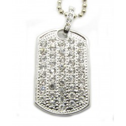 "PLAYAZ Dog Tag ""FULLY BLING"" Kristall mit Kette"