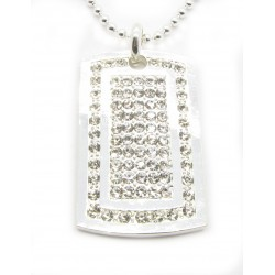 "PLAYAZ Dog Tag ""XXL FULLY BLING"" Kristall mit Kette"